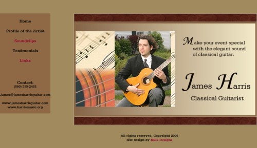 James Harris, Classical Guitarist